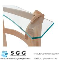 China High quality curved glass hall table top wholesale