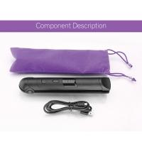 China Wireless Gift Rechargeable Hair Straighteners / Small Flat Iron With 3 Setting wholesale
