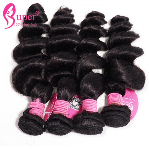 Quality The Best Brazilian Virgin Human Hair Styles Cheap Loose Wave Bundles for sale