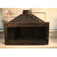 China Indoor Freestanding Cast Iron Fireplace Hand Carved And Polished wholesale
