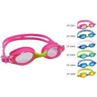 China Comfortable children swimming goggles, kid swimming goggles with anti-fog lens on sale