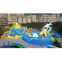 China Giant Adults / Kids Inflatable Water Slide Pool for Funny Amusement Games wholesale