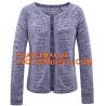 China Short Sleeve Pointelle Shoulder Pointelle Sleeve Women Cardigan, Long Sleeve Stitch Blocking Pointelle Stripe Women Card wholesale