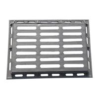 China B4060G-1 Metal grate ductile cast iron gully  grating and frame size 400*600mm drain gully grid for garage road etc. on sale