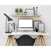 China 2018 Customized Modern office desk wooden white office table wholesale