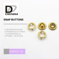 China Fancy Gold Brass Bulk Clothing Buttons , 16L Prong Snap Buttons For Clothing wholesale