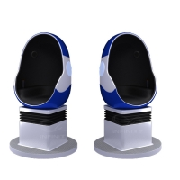 China 10 Square Meters Single Seat 9D VR Egg Chair with DPVR E3 2K Glasses wholesale