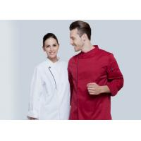 China Long Sleeve Western Style Hotel Chef Uniform White Colour With Hand Roll Cuffs on sale