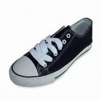China Men's Casual Shoes with 40 to 46# Available Sizes, Made of Canvas, Textile and Rubber on sale