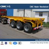 China CIMC manufacturer shipping container trailer , 20ft container trailer wholesale