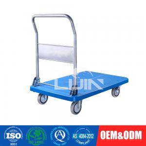 China Light duty loading 150 kg industrial platform cart plastic hand trolley wholesale