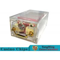 China Acrylic Casino Card Shoe 8 DeckLarge Capacity With Bright Metal Lock wholesale