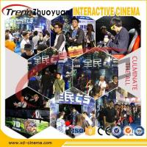China 6-12 Seats 5D 7D 9D Cinema Simulator With Effects Bubble , Snow , Rain , Sweep Leg , Push Back wholesale
