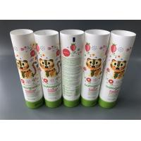 China Babyganics Lotion Tube Packaging / PE Cosmetic Tube Flip Top Cap 113g on sale