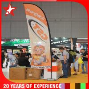 China Custom Flutter Flags , Outdoor Feather Banner Flags Fiberglass / Aluminum Pole on sale