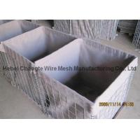 China Low Carbon Steel Wire Filling Gabion Baskets , Military Barriers Hesco Bastion Wall wholesale