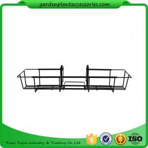 China 24 Inch Black Garden Hanging Baskets wholesale
