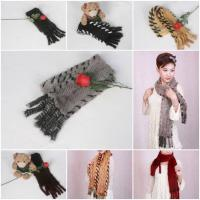 Buy cheap Mink Fur Scarves Mink Fur Scarf Mink Fur WrapsFur Shawl Mink Knitted Scarf 5 Colors from wholesalers