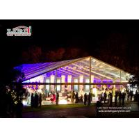 China Easy Up 400 People  Outdoor Party Tent With Transparent Roof Cover And Sidewalls wholesale