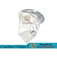 China Acrylic HD Transparency Poker Card Holder Gambling Discard Playing Cards Carrier With Lock on sale