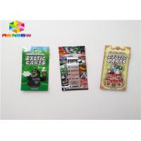 China Aluminum Foil Zip Lock Plastic Bags Food Packaging Pouch Custom Size With Tear Notch on sale