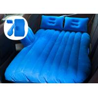China Wear Resistant Car Travel Inflatable Mattress With Blow Up Pump Various Color wholesale