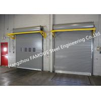 China Light Duty Industrial Roll Up Doors High Speed Rigid Rolling Doors With Low Maintenance wholesale