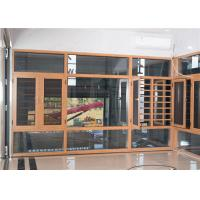 China Yellow Brown Aluminium Frame Glass Window And Doors Air Proof Flush Design on sale