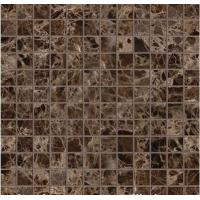 China Dark Emperador Marble Mosaic Polished Cut to Size Marble Tiles for Wall Tile wholesale