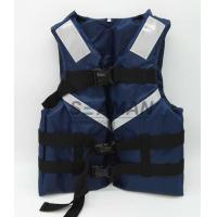 300D Oxford Navy Blue Men's Watersports Life Jacket SOLAS Reflective Tape Size S, M, L, XL