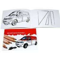 Buy cheap A5 Childrens Coloring Books Red Cover With Cars Drawing Glossy Coated Cover from wholesalers