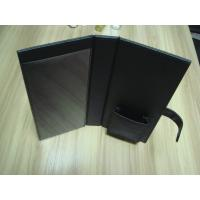 China Foldable Brown, black and blue PU paperback book cover, Hotel Information Folder wholesale
