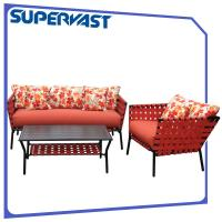 Outdoor Furniture Patio Furniture Seating Sets Multi Color 4PC Steel Frame