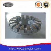China 4 Diamond Grinding Wheels With Curve Edged Segment For Concrete And Stone wholesale
