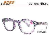 Buy cheap Hot sale style reading glasses , made of PC frame with,pattren on the temple and frame ,suitable for women from wholesalers