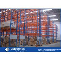Buy cheap Blue / Orange Pallet Storage Racks Metal Conventional Pallet Storage Shelves from wholesalers