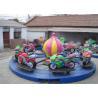China Motor Shape Children's Amusement Park Rides , Kids Carnival Car Carousel Ride wholesale