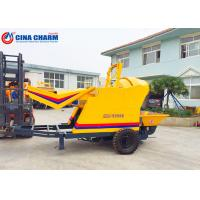 China Hydraulic Jacking Legs Small Cement Pump , Towable Concrete Pumping Equipment wholesale