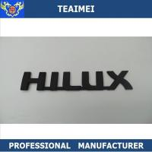 China ABS Plastic Black Body Car Emblem Letters Car Decal Car Emblem Badge For Cars wholesale