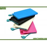 China Easy Carry Ultra Slim Power Bank 2500mAh Plastic Material 50g Net Weight wholesale