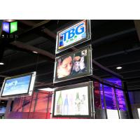 China A4 LED Acrylic Light Box Transparent Crystal Frame Ceiling Hanging Advertising wholesale