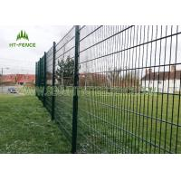 China Anti Climb Double Loop Decorative Fence , High Security Double Wire Mesh Fence wholesale