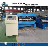 China Galvanized Steel Trapezoidal Roofing Roll Forming Machine With Hydraulic Decoiler wholesale