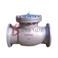 China Automatically Flanged Swing Check Valve WCB GS-C25 PN16 One Way NRVs H44H on sale