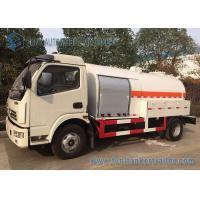 China Mini Liquid Tank Trailers With LPG Dispenser / Cooking Gas Dispense 5 Speed Truck wholesale