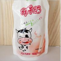 China 250ml Fresh Milk Standing Pouches Top Spout Beverage Pouch With Clear Window wholesale