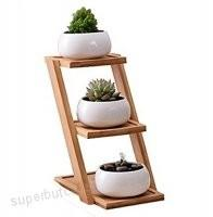 China Nice Decoration Bamboo Display Rack 9.5*18*20.5cm Size For Department Store wholesale