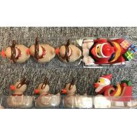 China Xmas duck toys set of Santa Duck with 3 baby reindeer ducks for Christmas duck promotion gift wholesale