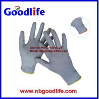 China Pu Coated Nylon Garden Glove working safety Pu Gloves on sale