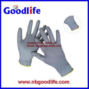 China Pu Coated Nylon Garden Glove working safety Pu Gloves on sale
